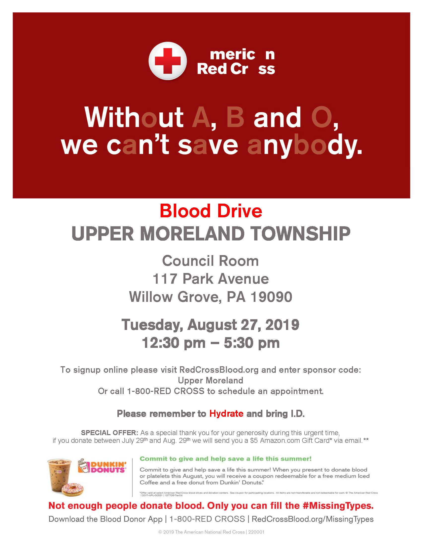 Upper Moreland Township Blood Drive