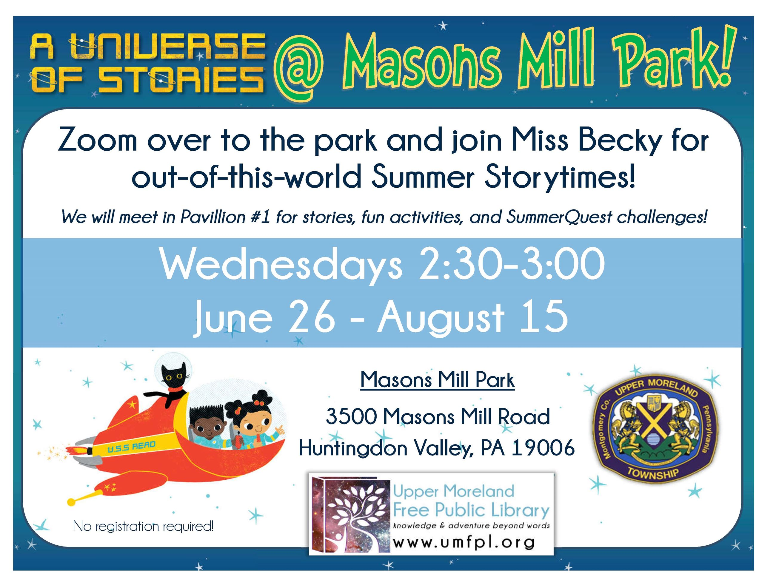 UMFPL Masons Mill Summer Storytime 2019