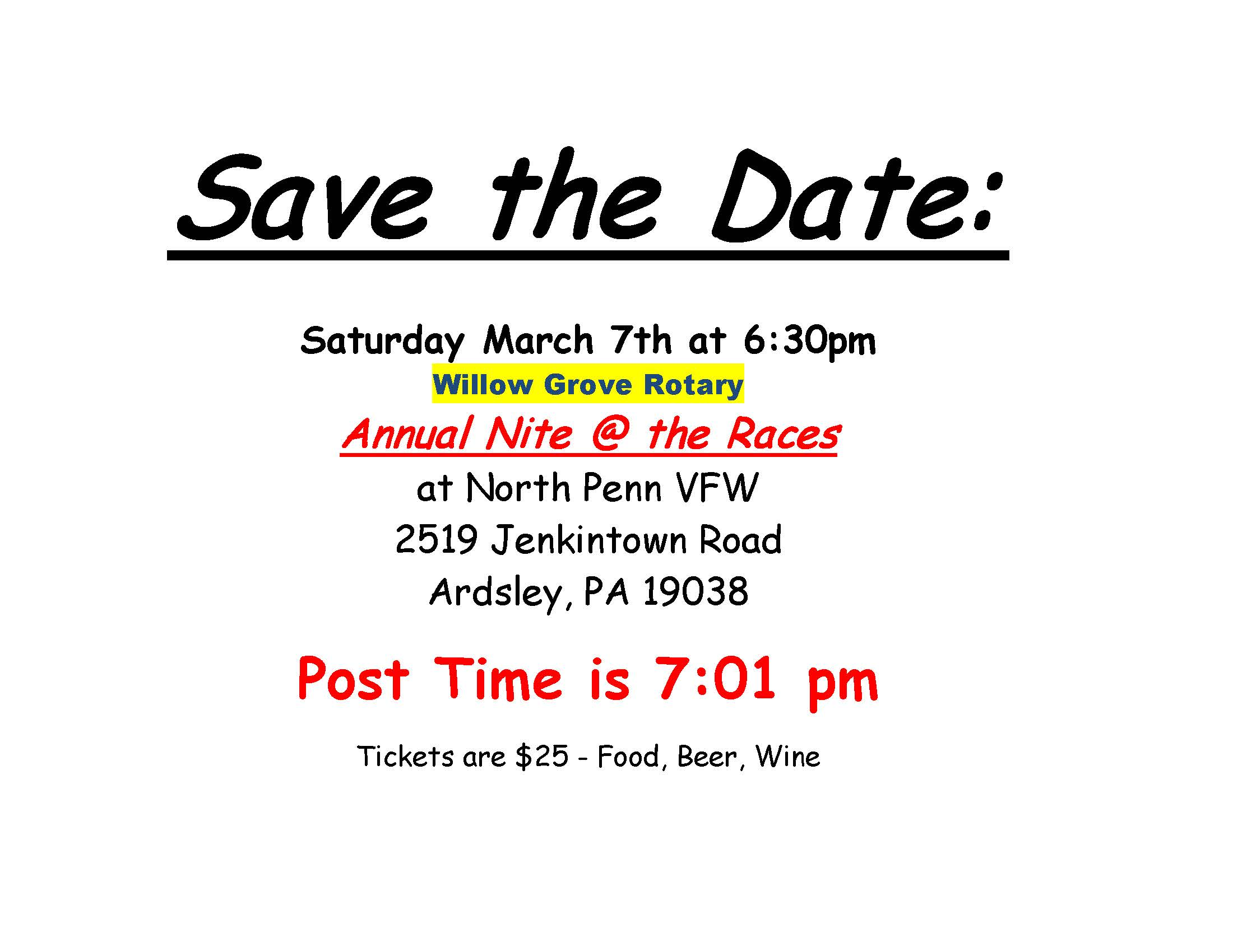 2020 Save the Date - night at the races